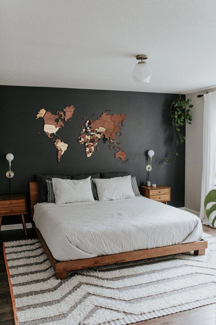 Map of The World , World Map Wall Art , Push Pin World Map , Wooden World Map , 5th Anniversary Gift , Home Decor Gift , Wood Wall Art