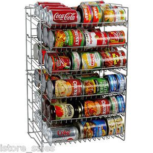 Large Food Storage Can Wire Rack For Cabinet Pantry Holding Soda