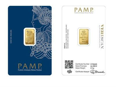 Pamp 2 5 Gram Gold Bar Gold Bullion Bars Gold Bullion Coins Buy Gold And Silver