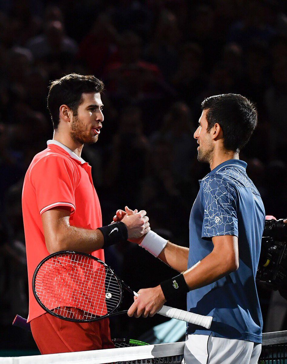 Karen Khachanov Beat Novak Djokovic To Win 2018 Paris Rolex Masters Tennis Players Best Tennis Rackets Karen