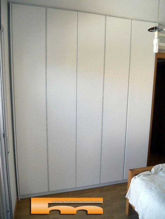 armario empotrado lacado sin tirador diseño sabadell barcelona ...