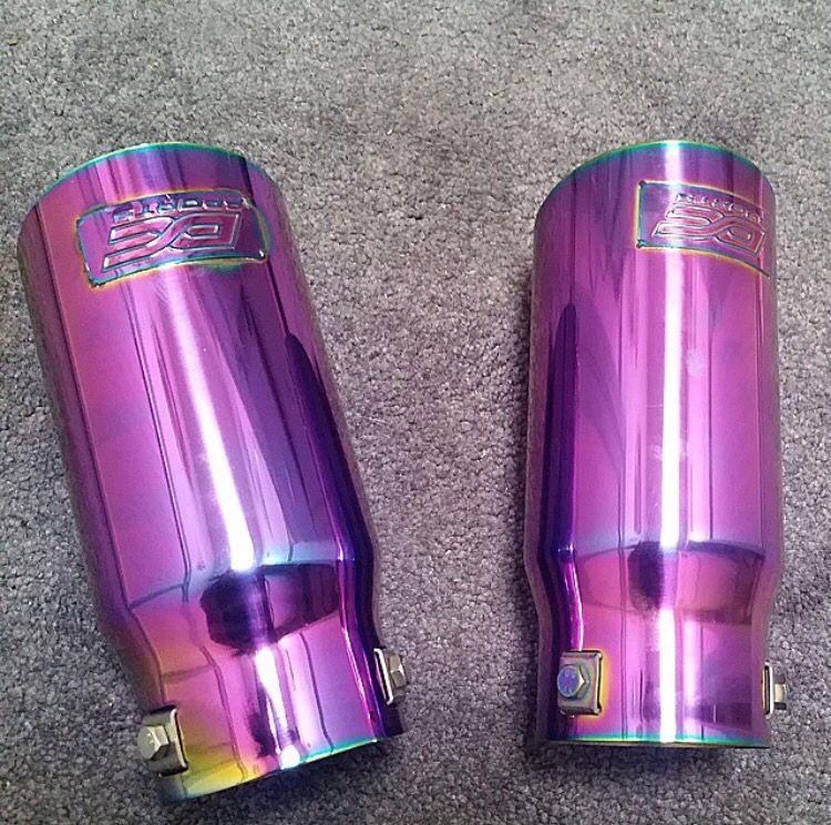 lushfullux neo chrome exhaust tips