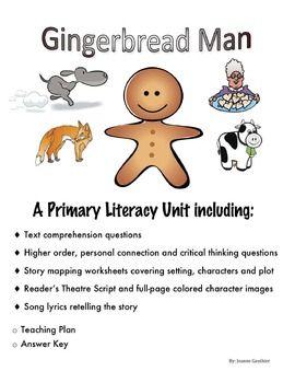 gingerbread man fairy tale reading comprehension unit. Black Bedroom Furniture Sets. Home Design Ideas