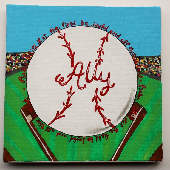 Baseball Art Bible Verse Psalms 9612 Let The By DreamItDesignArt