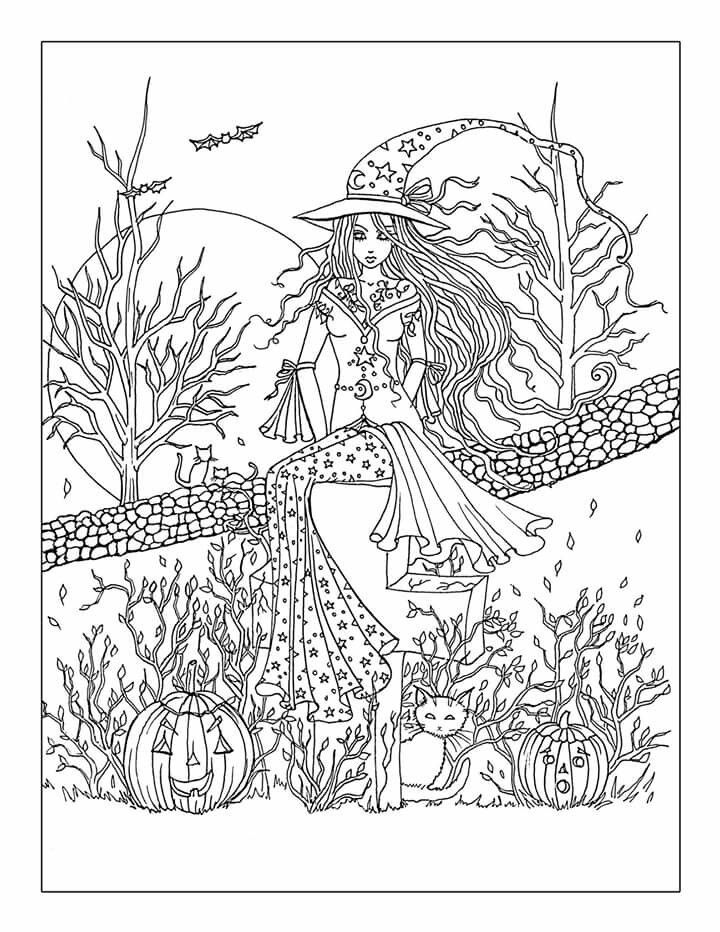 Molly Harrison Halloween Coloring Coloring Pages Fairy Coloring Pages