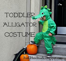 RisC Handmade: Toddler Alligator Costume #deguisementfantomeenfant RisC Handmade: Toddler Alligator Costume #deguisementfantomeenfant