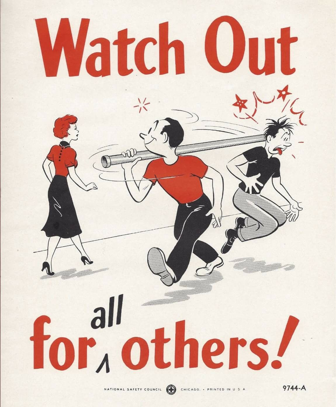 1950s Workplace Safety Poster, National Safety Council