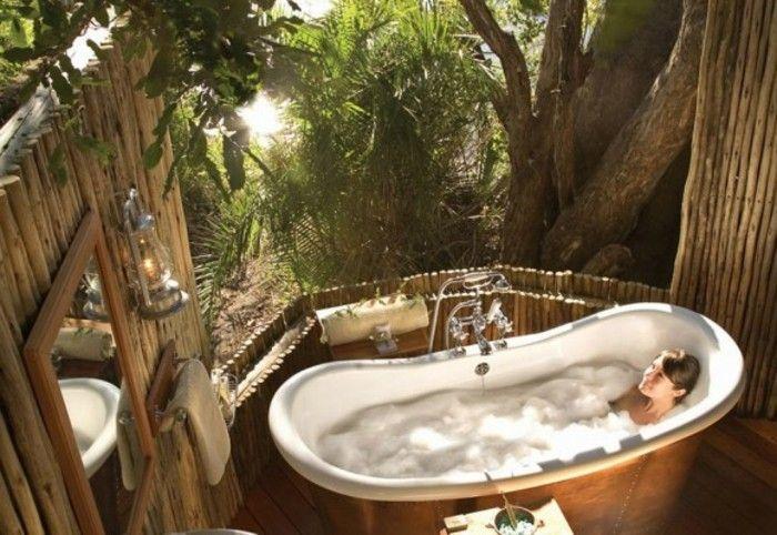bad bilder exotisches interieur unikales modell badewanne - dekoration für badezimmer