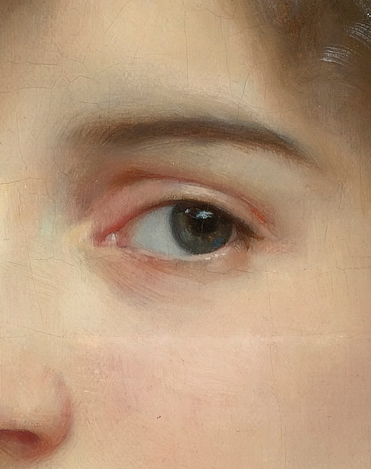 greuze:William Adolphe Bouguereau, Portrait of Gabrielle Cot (Detail), 1890