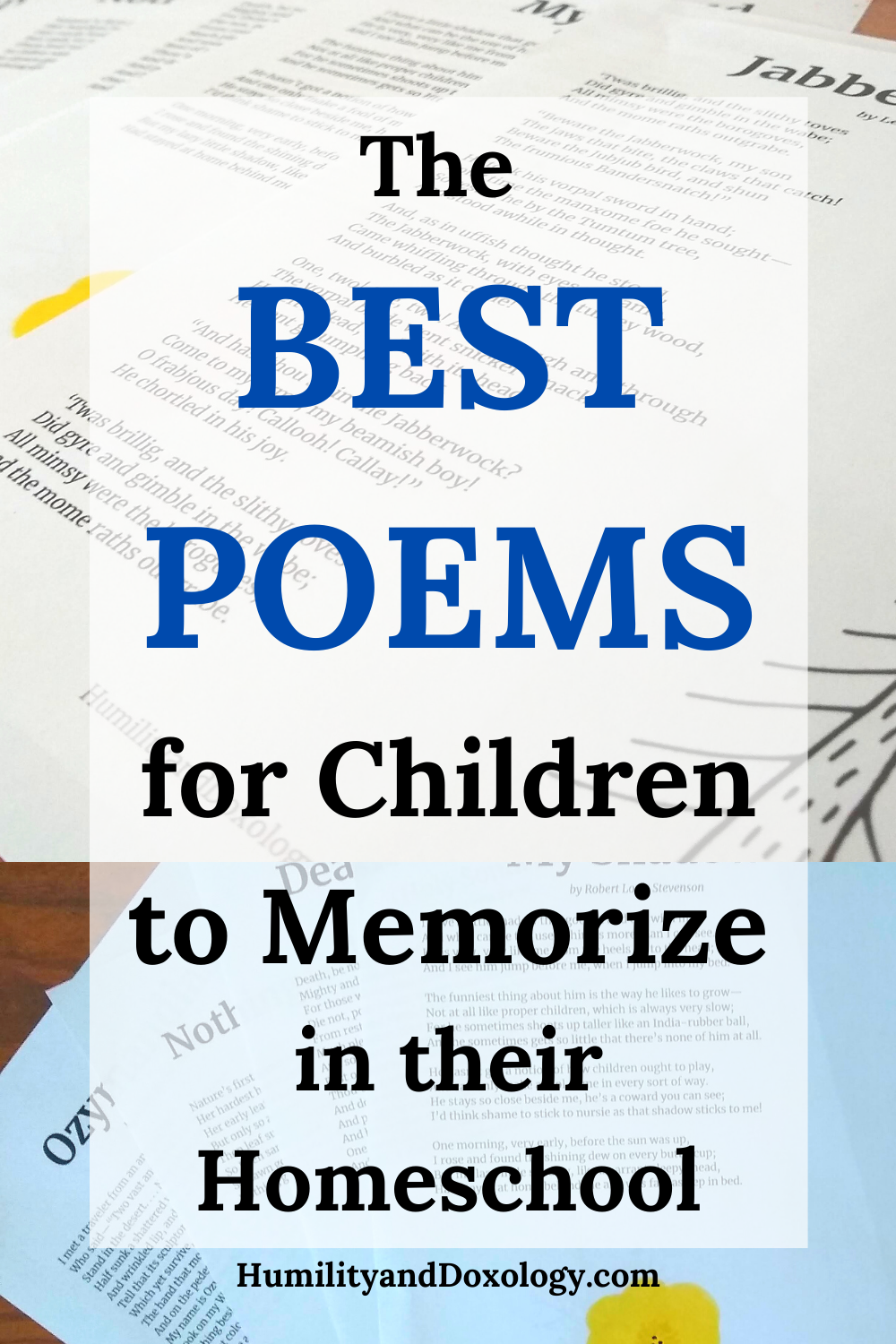 12 Poems Every Child and Adult Should Memorize and Know By Heart