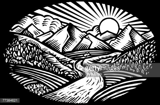 25+ Black And White Nature Clipart
