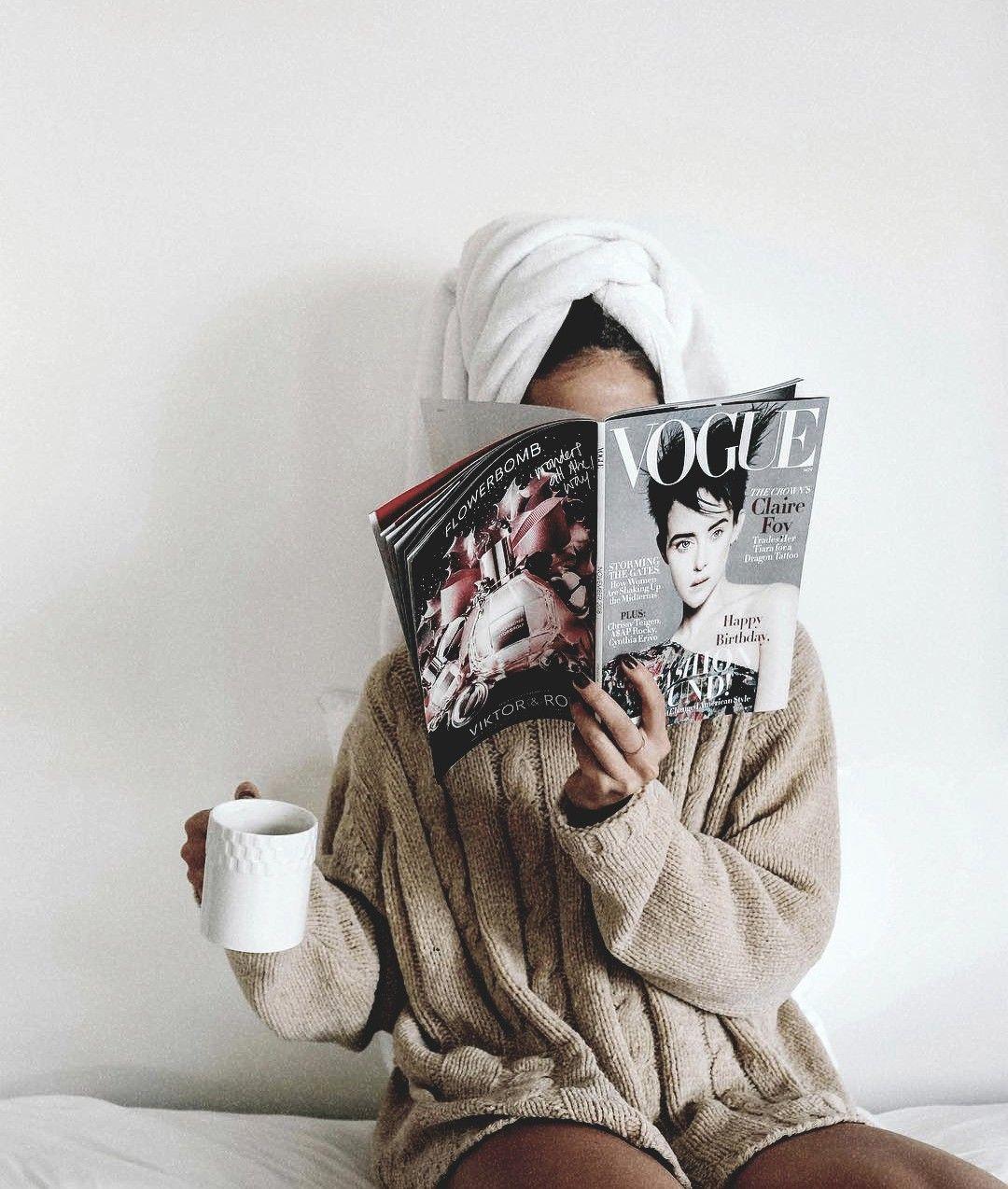 Kkadencemarie Vogue Instagram Reading Magazine Shower Selfcare Girl Aesthetic Fashion Blogger Photography Blogger Photography Aesthetic Photography