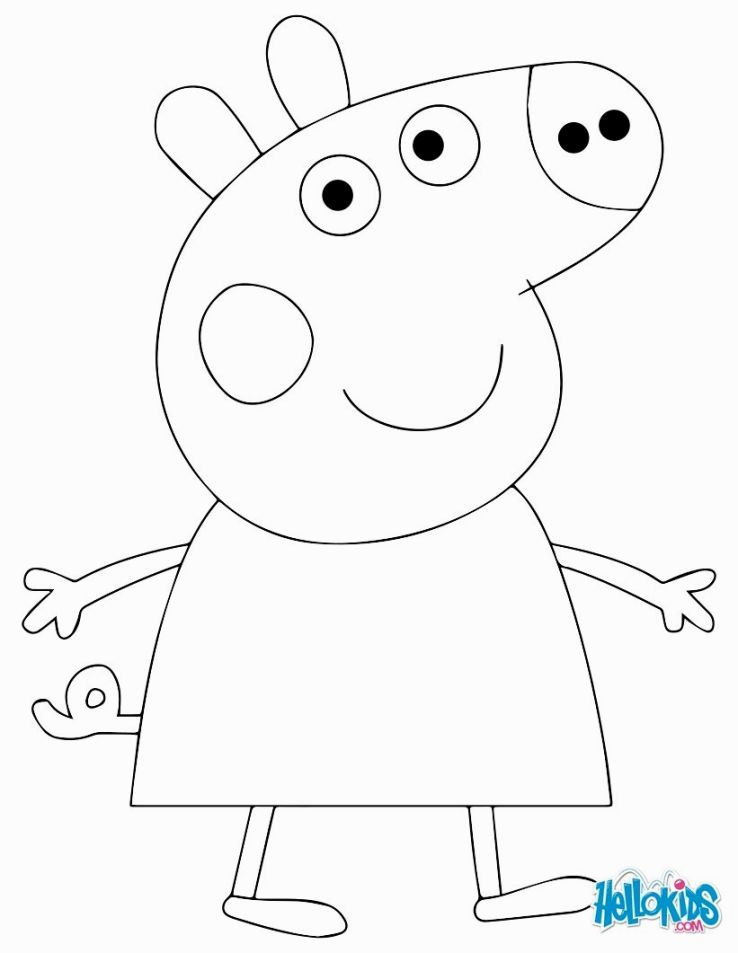 Coloring Peppa Pig Coloring Pages Pinterest
