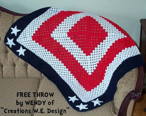American Flag Afghan Free Pattern On Ravelry Crafts
