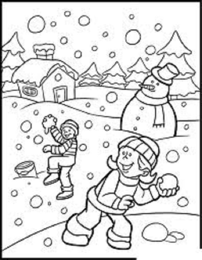 January coloring pages for kids | coloring Pages | Pinterest | January