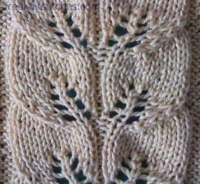Drawn Work Knitting Stitches Knitting Flowers Leaves Vines Etc