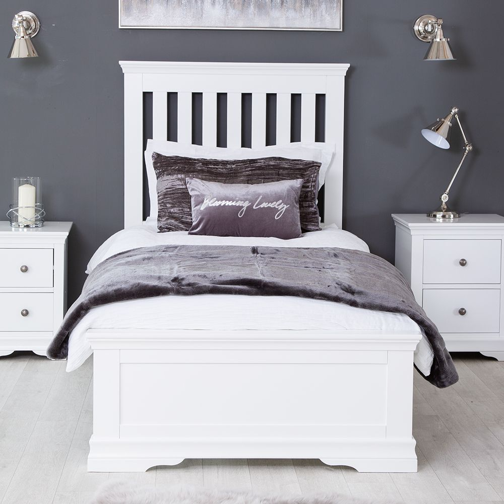 Florence White Painted 3ft Single Bed Frame Single bed