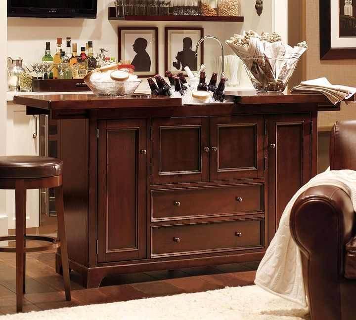 Discounted Furniture Stores Near Me: Pottery Barn Torrens Bar Cabinet