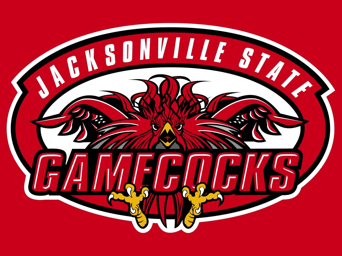 Image result for jacksonville state gamecocks logo red background