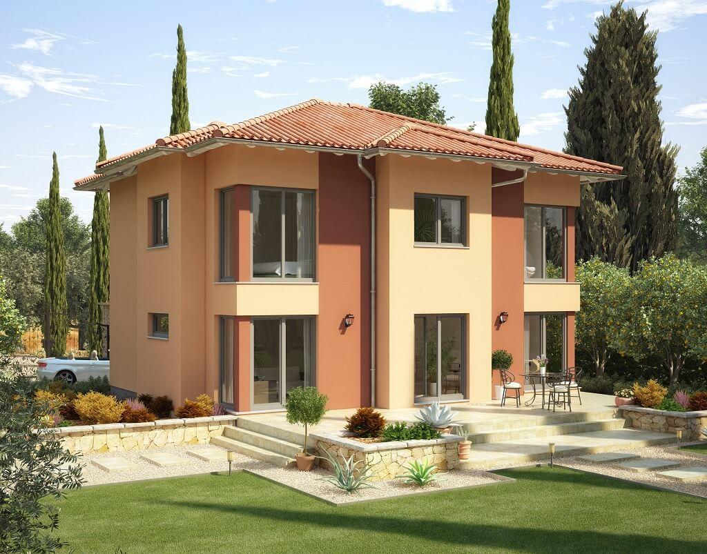 Moderne mediterrane stadtvilla haus evolution 165 v3 for Modernes haus walmdach