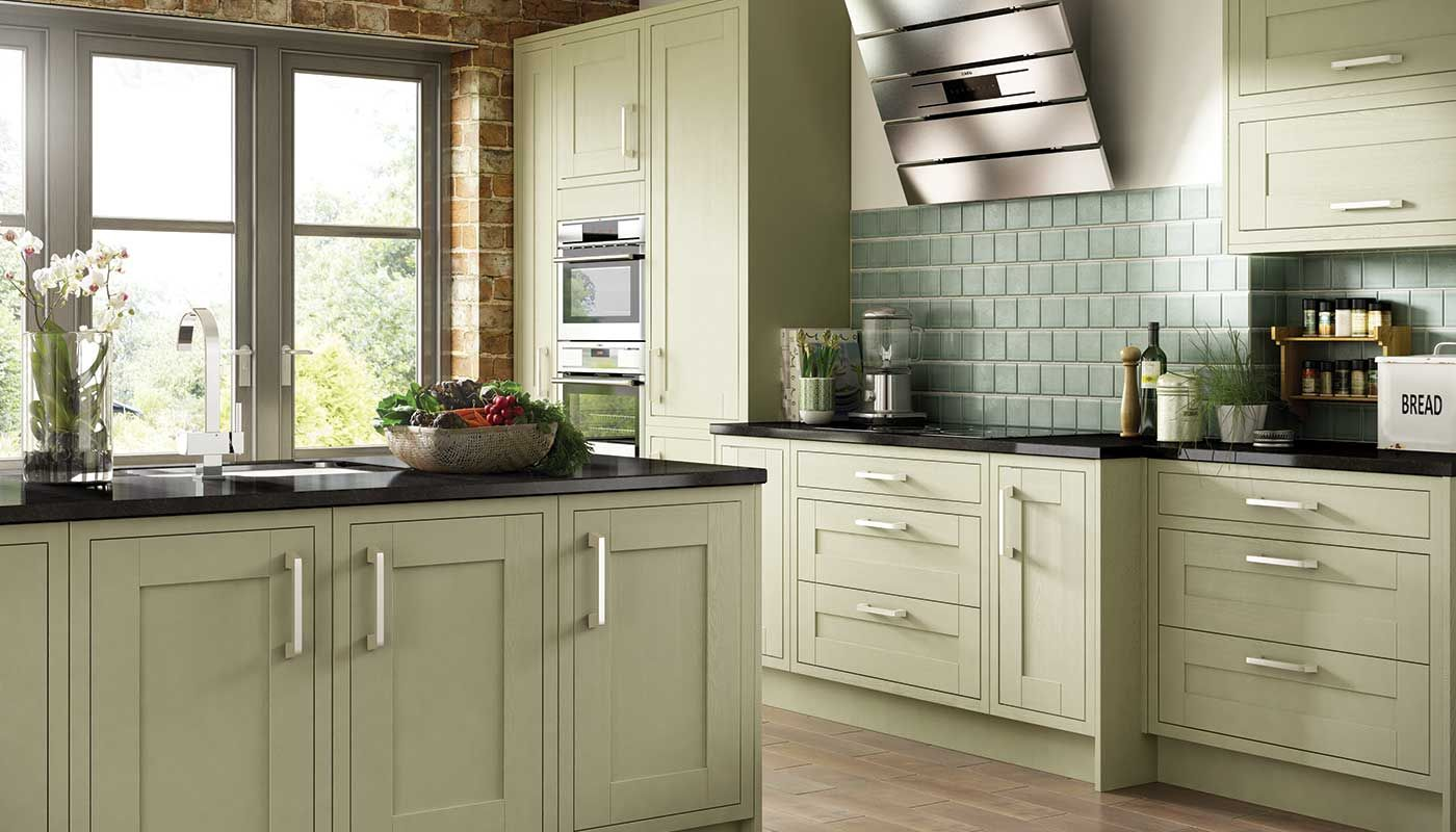 Olive green kitchen cabinets google search home for Green kitchen cabinets