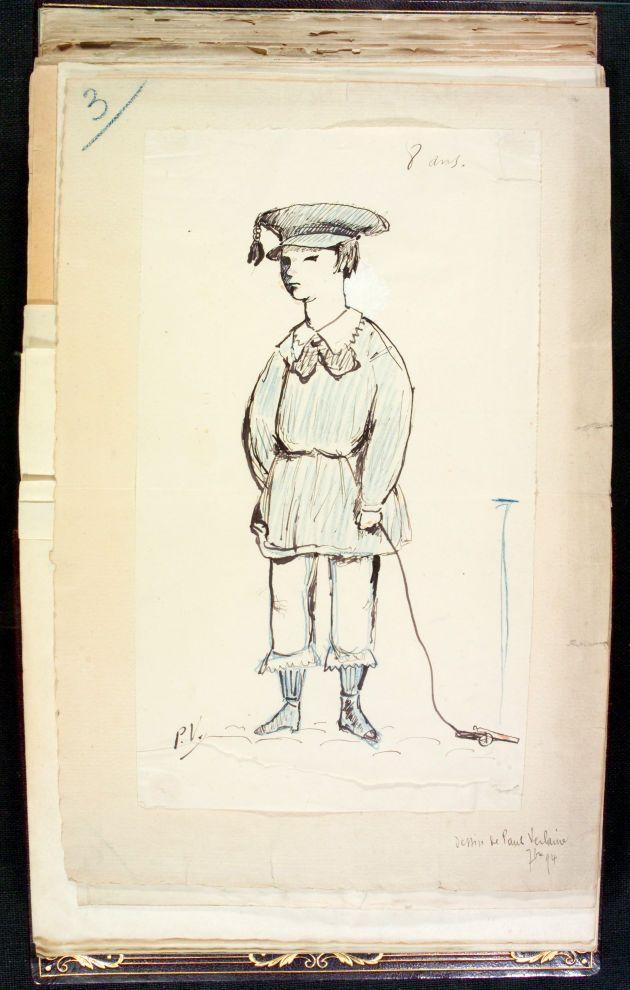 Copia de un autoretrato, realizado por Paul Verlaine, setiembre de 1894.