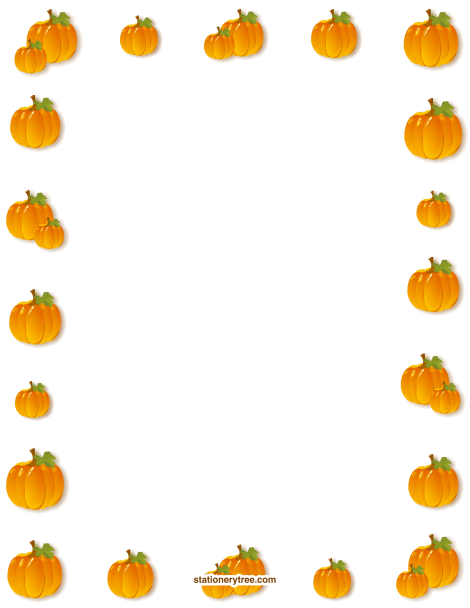 Free Pumpkin Stationery And Writing Paper Borders For Paper Thanksgiving Pictures Clip Art Pumpkin Theme