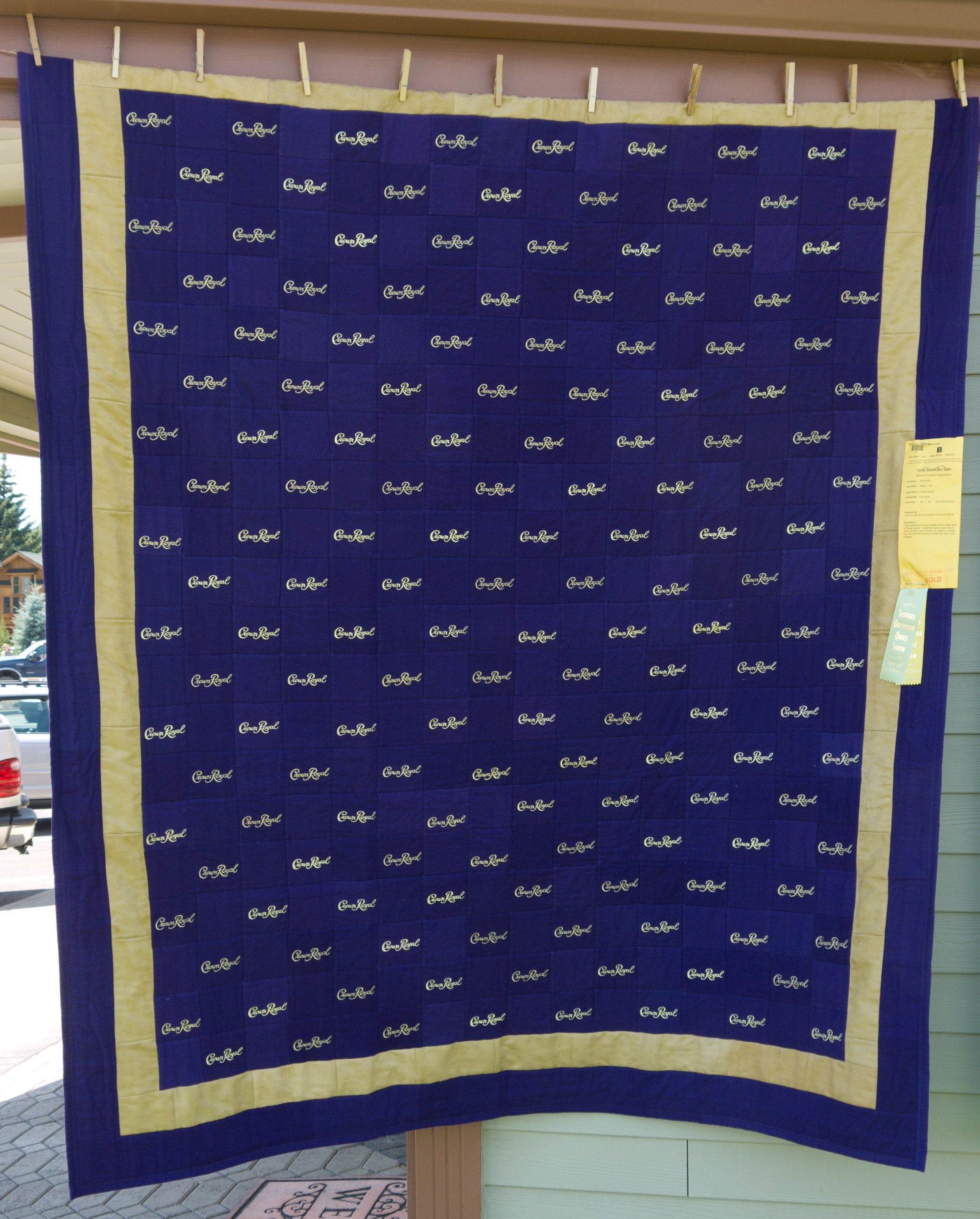 somebody saved the Crown Royal bags! lol | quilt | Pinterest ... : quilt made from crown royal bags - Adamdwight.com
