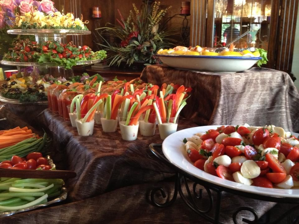 appetizer table display