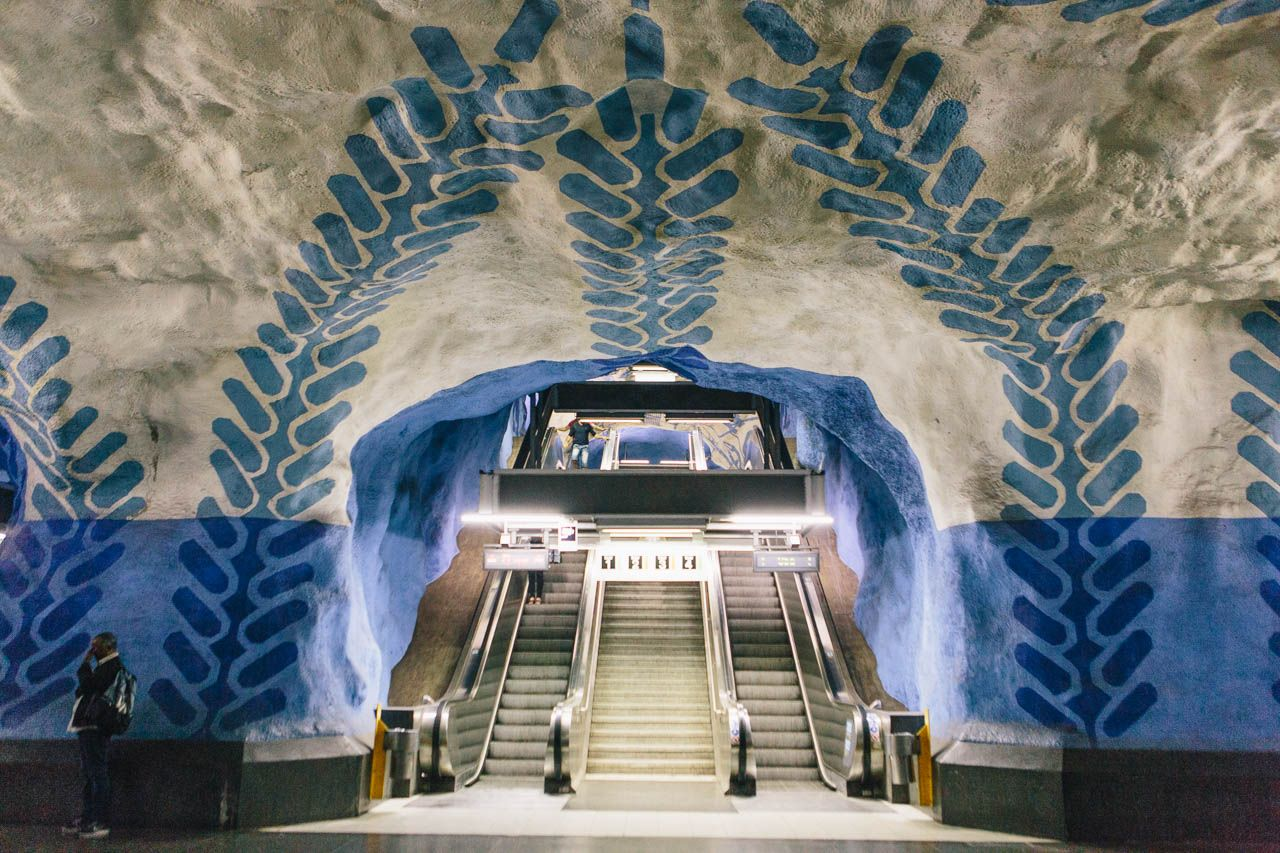 Stockholm Sweden Travel Guide - what to do - Subway art tour