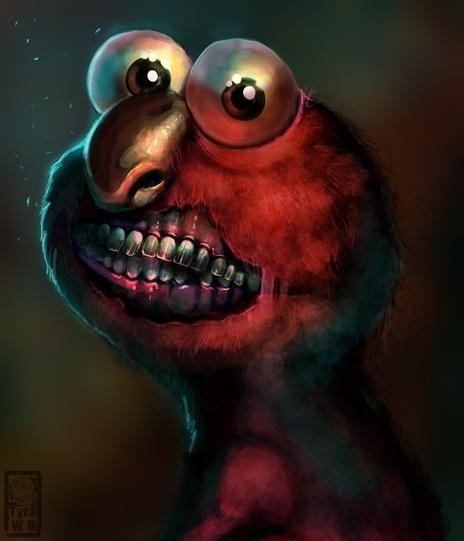 Strange And Awesome Fan Art Rolls Through Again Elmo Memes Elmo Fan Art