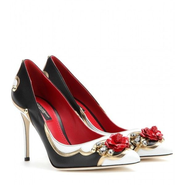 Embellished leather pumps Dolce & Gabbana QpXMp