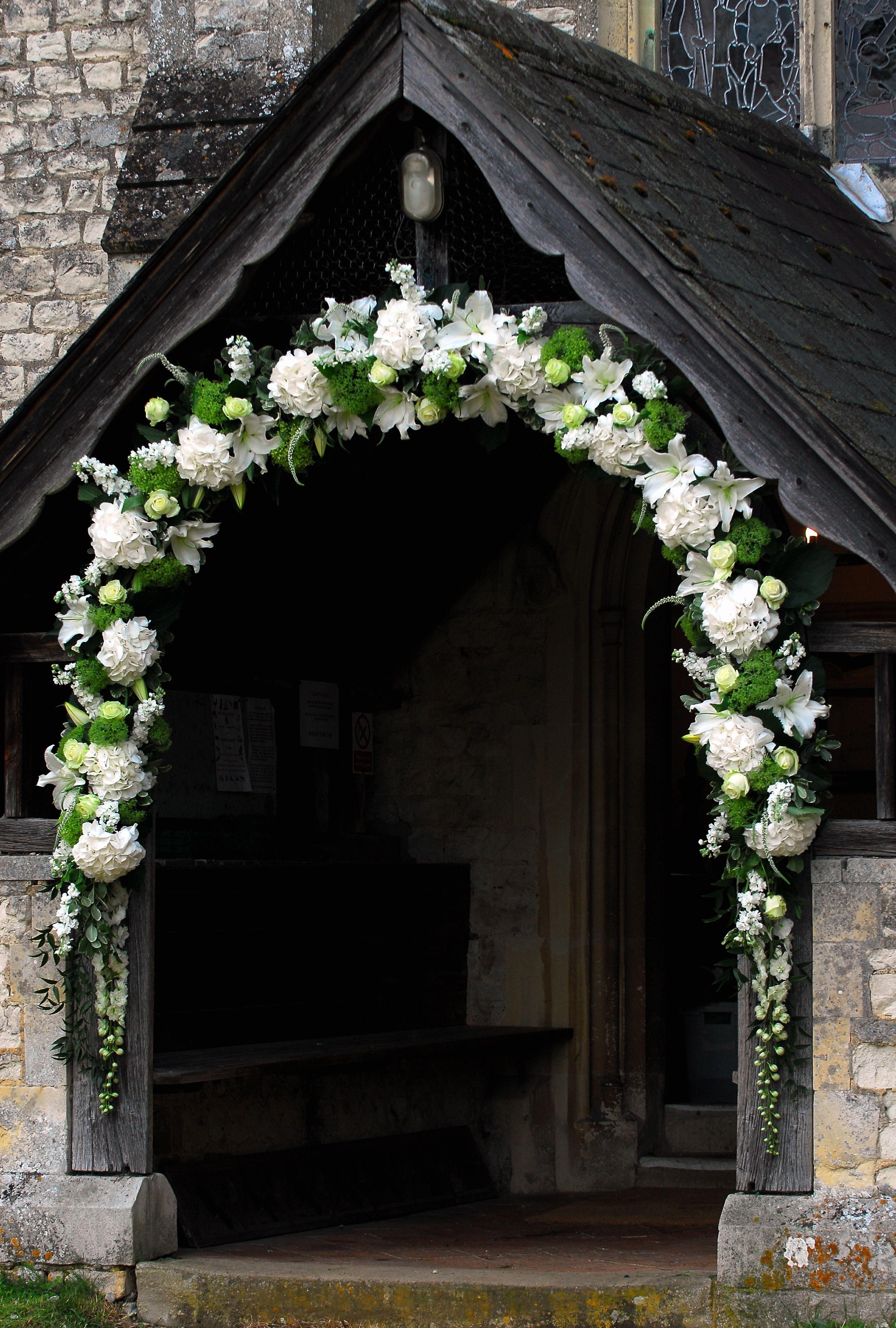 Lovely Arch At A Church Entrance