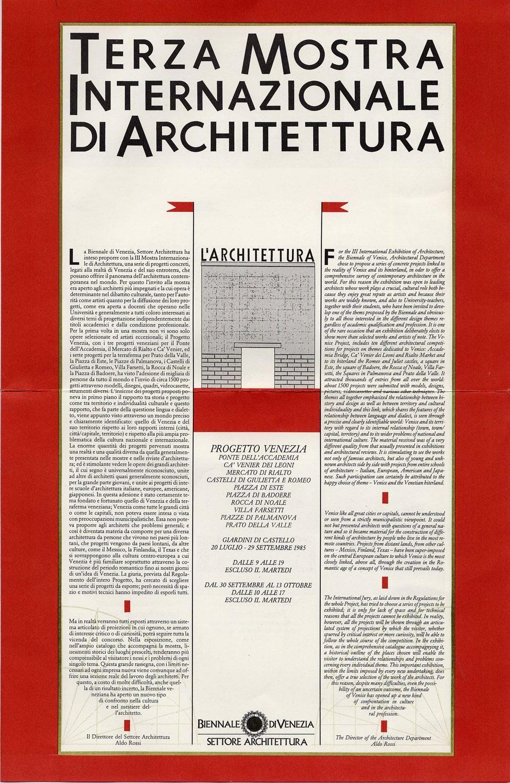 venice biennale 1980 google search post modernism pinterest