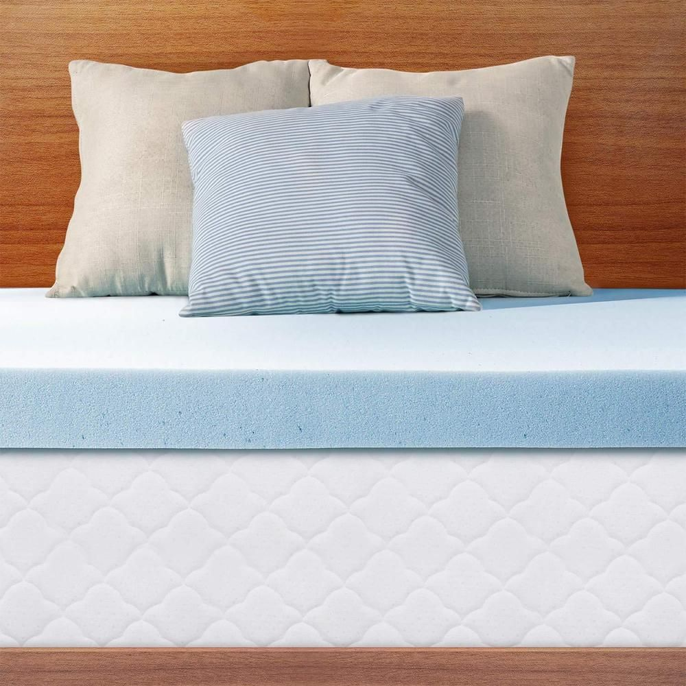 Ultra Plush Comfort Breathable Gel Memory Foam Mattress Topper