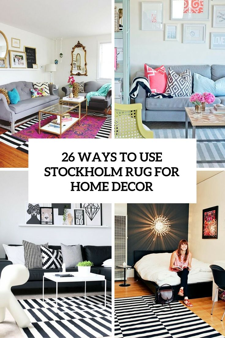 Use Ikea Stockholm Rug For Home Decor