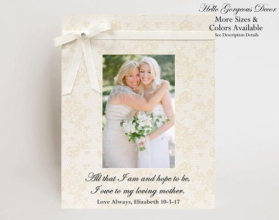 Mother of Bride Gift to Mom Wedding Day Picture Frame Mother of ...