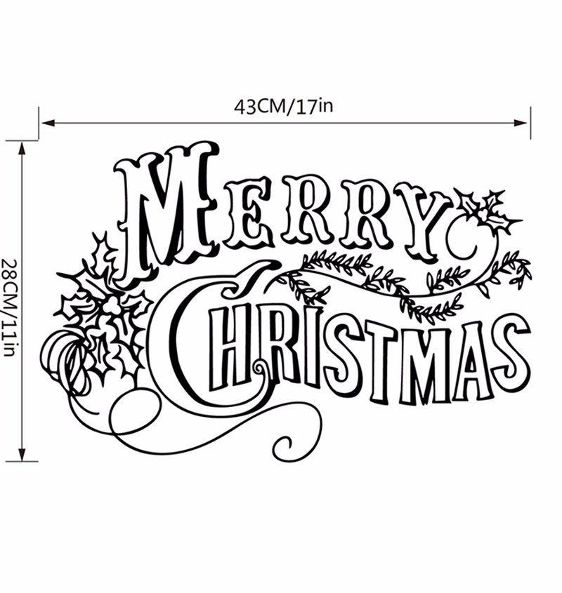 3 Colors Available Merry Christmas  Sticker Window Decorative Stickers Showcase Vinilos Castle Stikers Mural Home Decoration p5