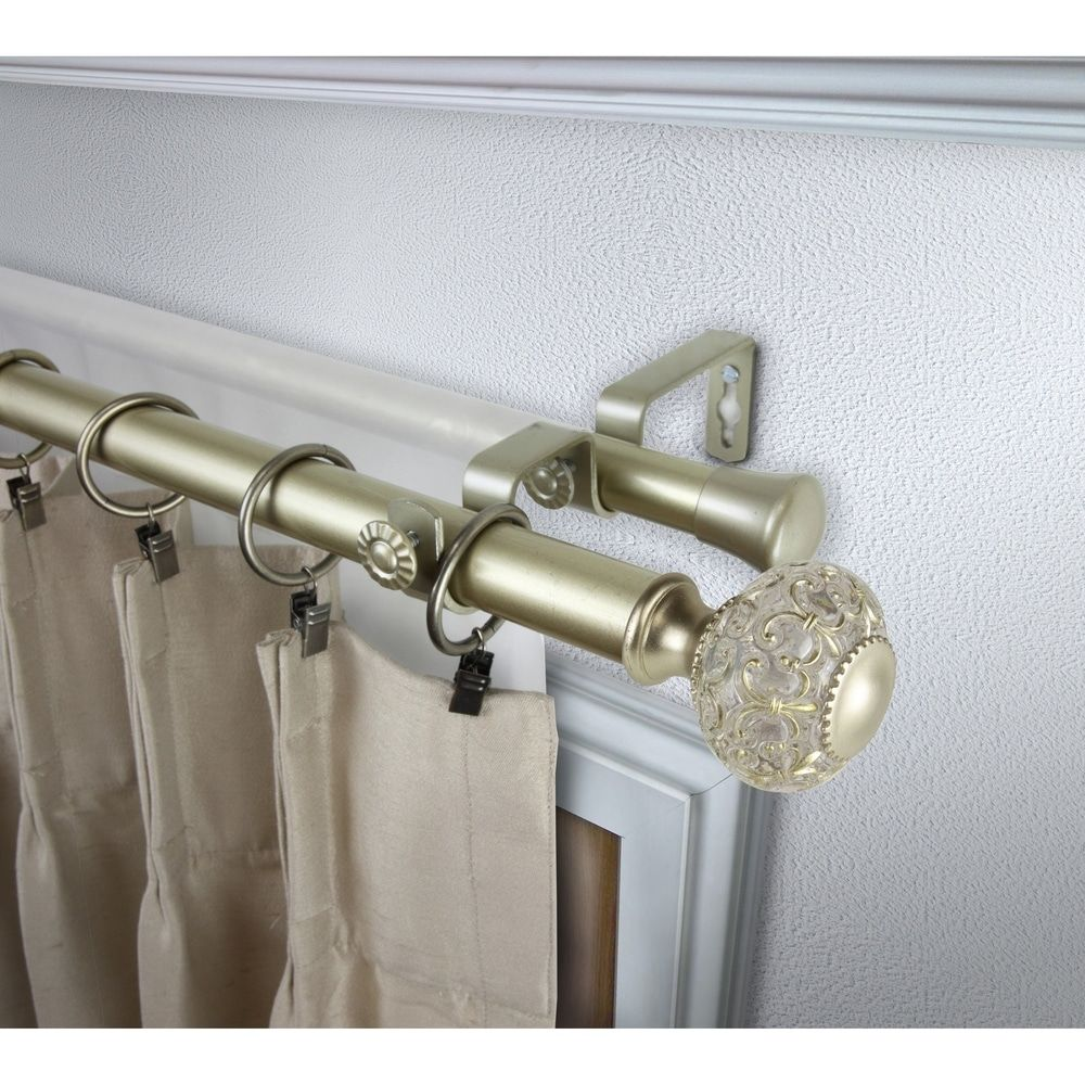 Shop Instyledesign Sadie 1 Inch Diameter Adjustable Double Curtain