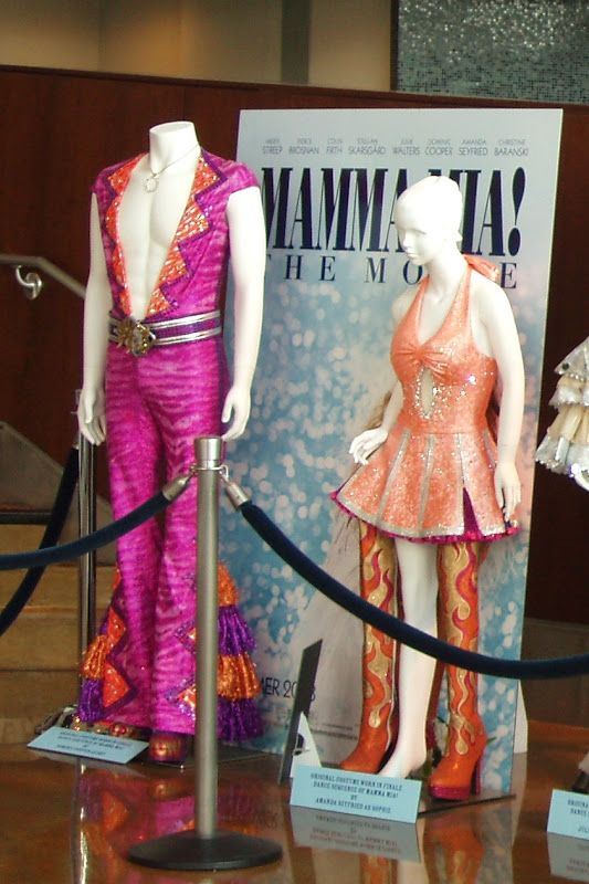 Mamma Mia The Movie Costumes On Display Mamma Mia Abba