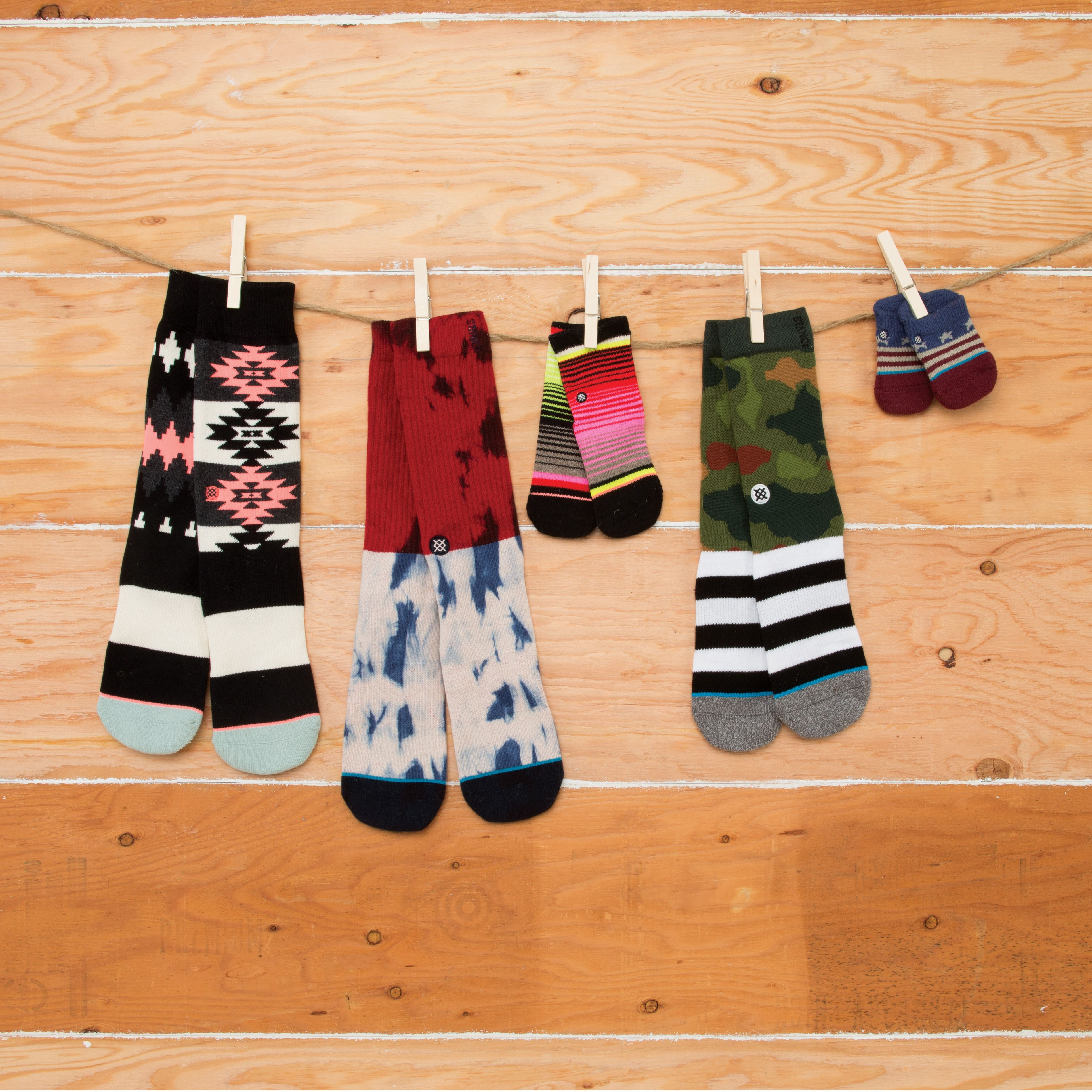 Family first Stance socks for the entire family including exclusive