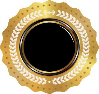 Psd فكتور اوسمة الاسود مع الذهبي صور Png مفرغة جاهزه زيزووم للأمن والحماية Home Decor Decor Mirror