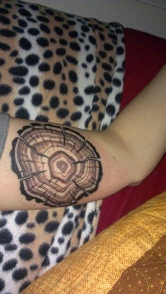 tree stump tattoo | Tattoos, Tree ring tattoo, Weird tattoos