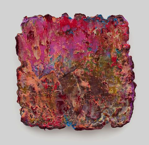 Lev Khesin. Mahj Silicone and Pigments on Canvas, 43x43cm