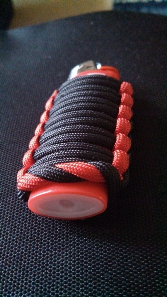 Paracord survival lighter cover case by brettsparacord on for Paracord case