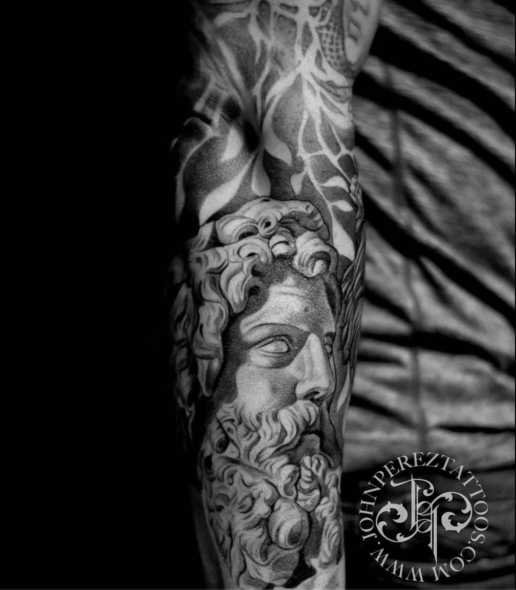 John Perez Best Portrait And Realism Black And Grey Tattoo Artist In Austin Tx John Has Over 20 Years Exp Black And Grey Tattoos Best Portraits Grey Tattoo