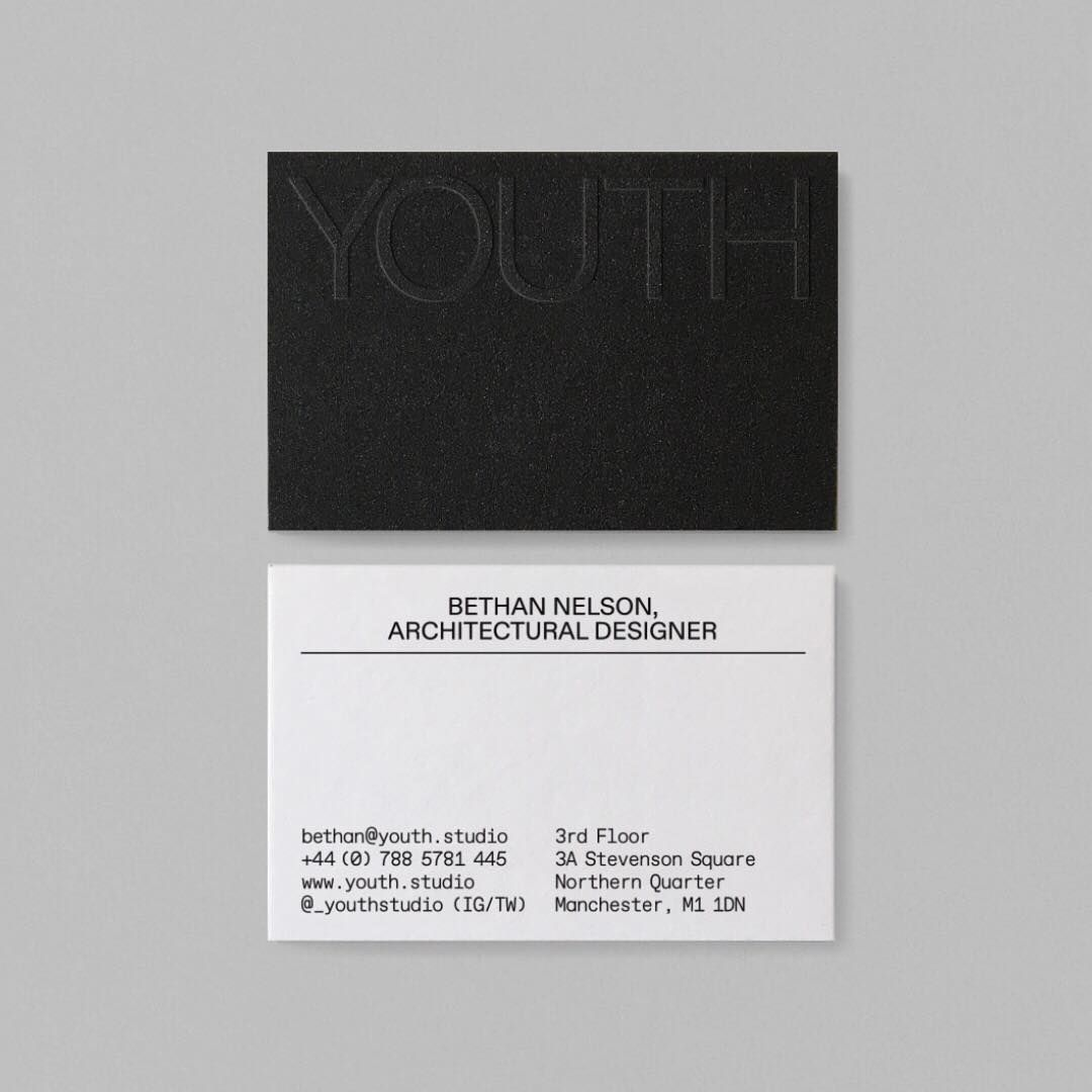 M Giesser On Instagram Duplexed Blind Debossed Sandpaper Business Cards For Youthstudio Completed Last Ye Business Card Design Job Roles Video Game Jobs