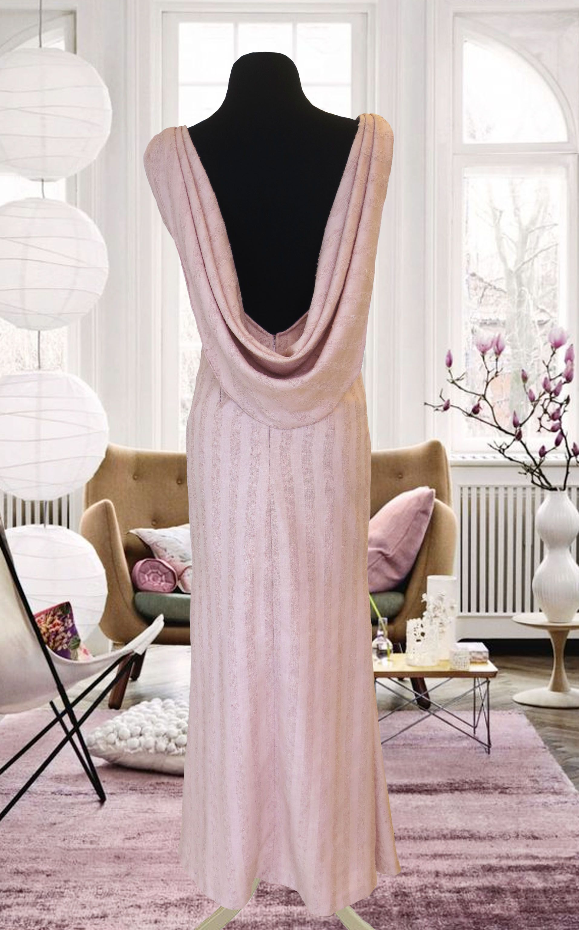 Baby Pastel Pink Long Gown for Rent in Manila nforent