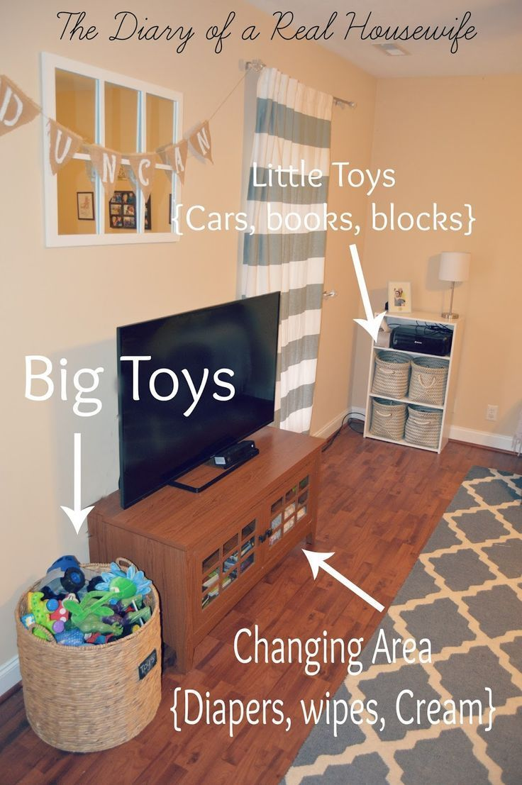 11 Tips For Keeping Kids Toys Organized: How I Organize The Toys In My Living Room. Easy Way To