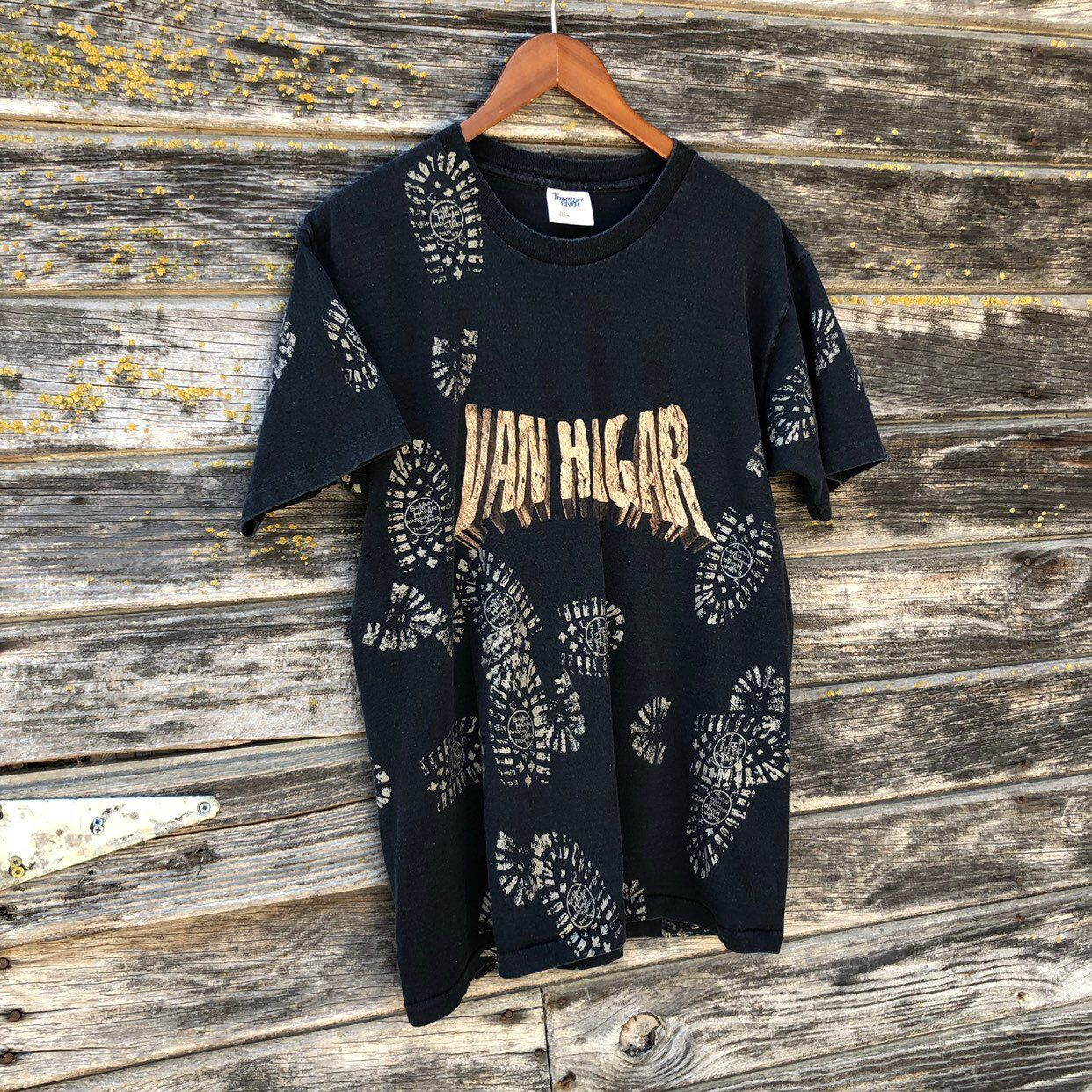 Vintage Van Hagar Concert 1997 Marching To Mars Tour T Shirt Double Graphic Band Tee Black Sammy Hagar Van Rock Shirts Tour T Shirts Vintage Clothing For Sale